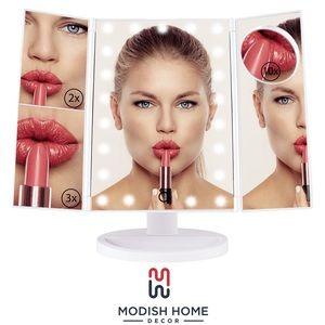 NIB Modish tri fold magnifying mirror
